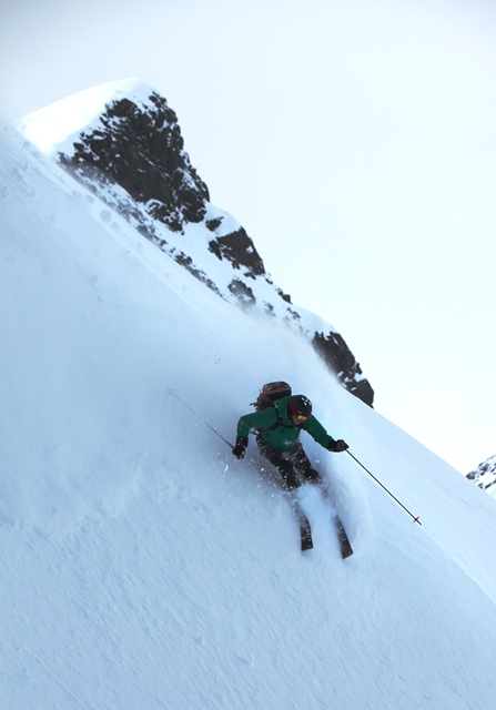 Skiing steep terrain is mountain sport at its best!
