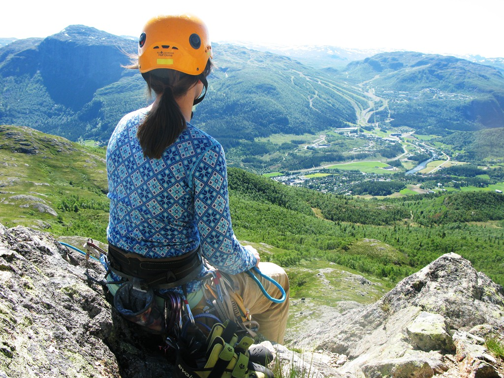 From the top of Skurvefjell Mountain in Hemsedal after the climb.